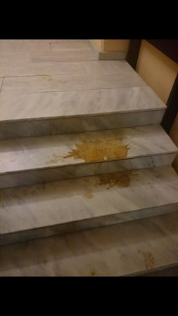 Amada Colossos Resort : Dirty stairs not cleaned often!