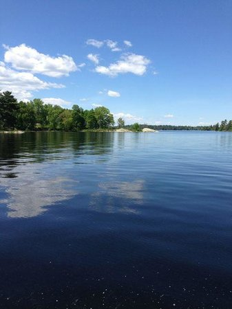 Northern Lights Resort & Outfitting: View from water taxi to trailhead
