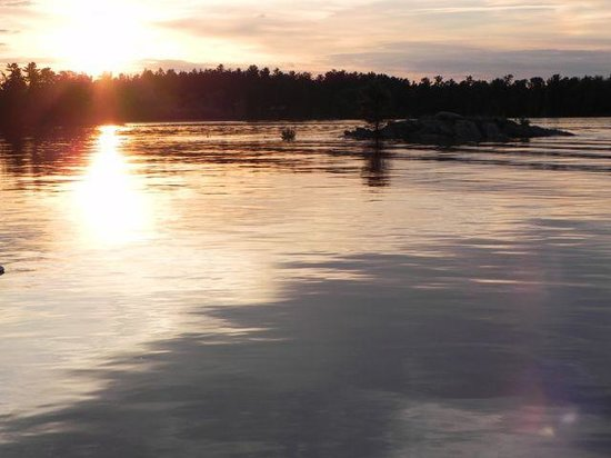 Northern Lights Resort & Outfitting: Fabulous sunsets - you can hear loons calling.  This is a view from the loft but go outside!