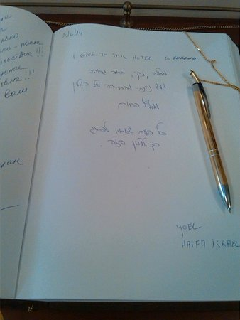 Alqush Downtown Hotel: What I wrote in the guest book