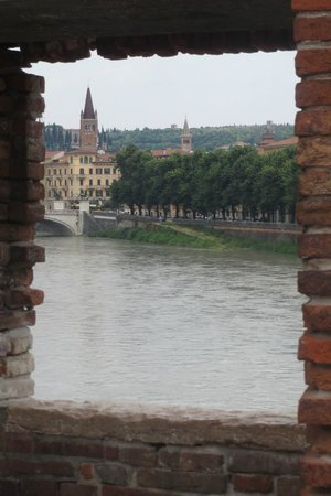 Museo di Castelvecchio: View of the river from the bridge outside the museum
