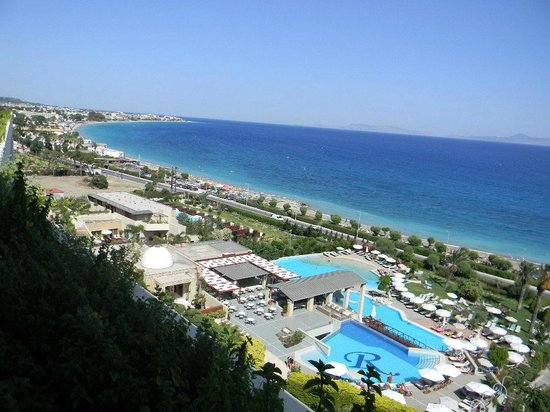 Amathus Beach Hotel Rhodes: view from the restaurant
