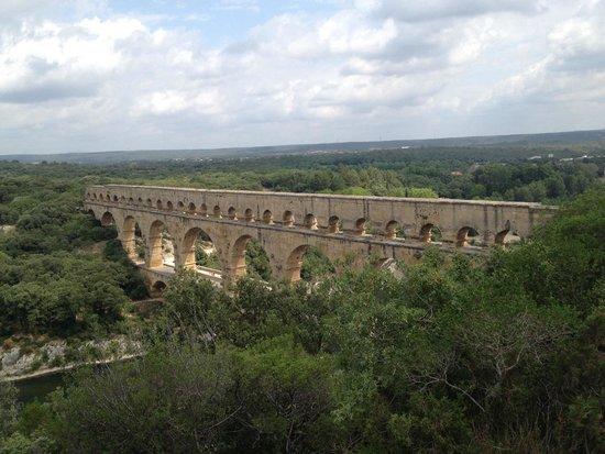 Pont du gard vue panoramique