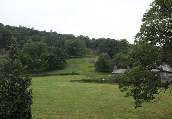 The Inn at Grasmere : View from the huge window of our suite, Helm Crag, on the second floor