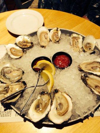 A.W. Shuck's: Oyster sampler.