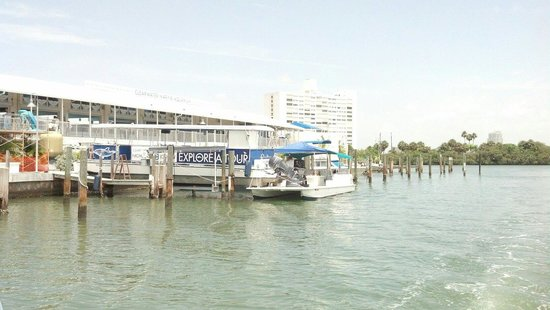 Clearwater Marine Aquarium : View from boat to Winter exhibit
