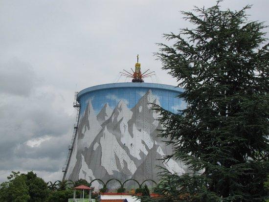 Wunderland Kalkar: manège dans la tour de refroidissement