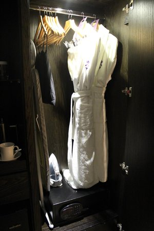 St. Ermin's Hotel, Autograph Collection: Robes, Iron, Ironing Board, & Safe in the closet