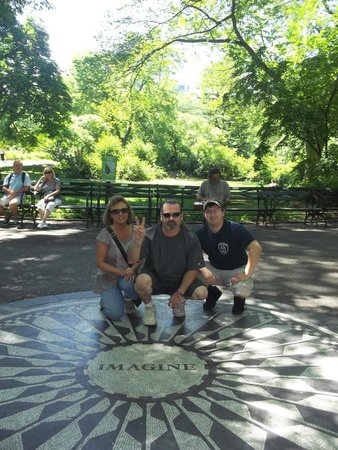 Real New York Tours: Imagine spot in Strawberry Fields, Central Park