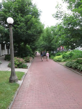 Chautauqua Institution: The brick walk from entrance to square.