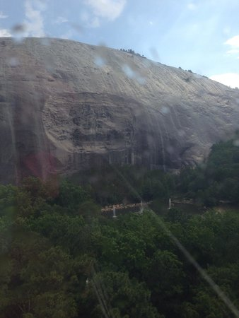Stone Mountain Carving: Rainy but beautiful.
