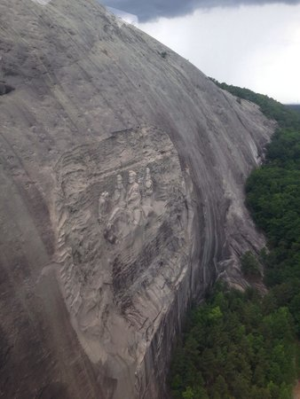 Stone Mountain Carving: 2 school buses fit on the horse