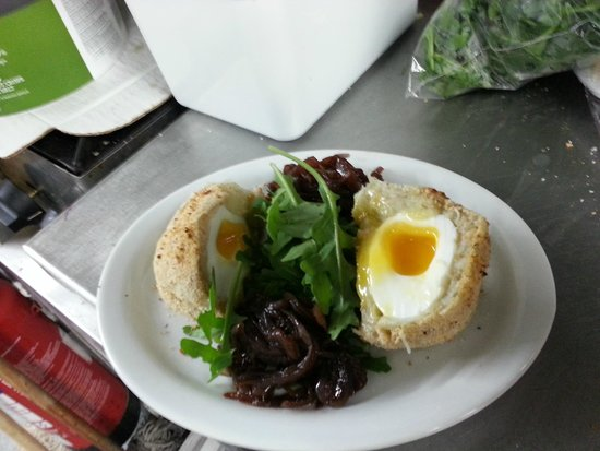The Plaice Restaurant: Salcombe Crab Scotch Egg & Homemade Red Onion Marmalade