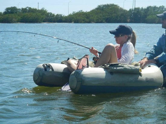 Antigua Fly Fishing & Light Tackle Charters: Ladies...pink flippers!