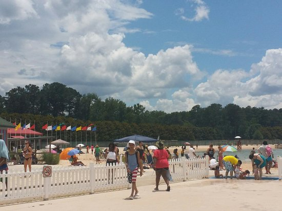 The BEACH at Clayton County International Park: Nice day!!
