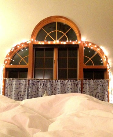One Light B&B: View from the very comfortable bed in the Serenity Room