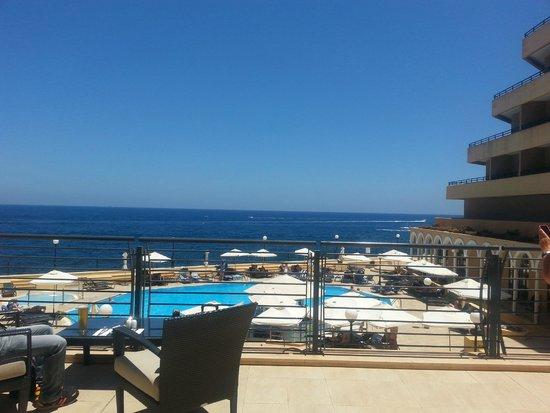 Radisson Blu Resort, Malta St Julian's: View from Bridge Bar Terrace