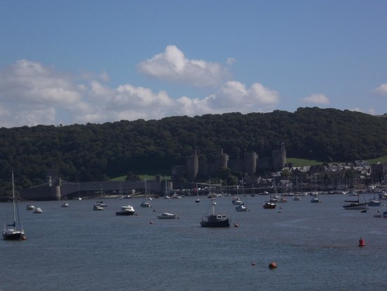 The Quay Hotel & Spa: View from hotel terrace across to Conwy