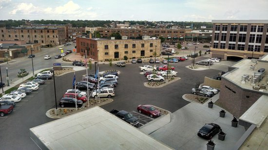 View From Top Floor Non River Side Picture Of Hilton Garden Inn Sioux Falls Downtown Sioux