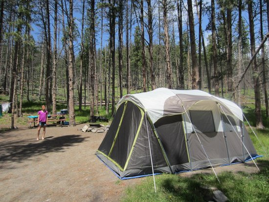 Horse Thief Campground: Tent site 87 - our tent is 16x10