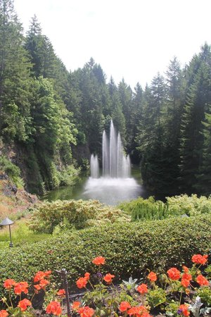 Butchart Gardens: Fountains change every few minutes