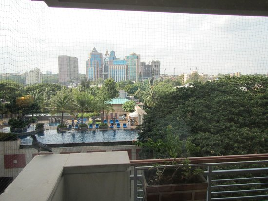 ITC Gardenia, Bengaluru: View from the net, the balcony is netted in to keep birds out