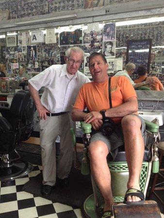 """Floyd's City Barbershop: In """"Floyd's"""" chair!"""