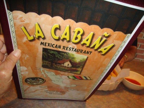 La Cabana Restaurant : menu