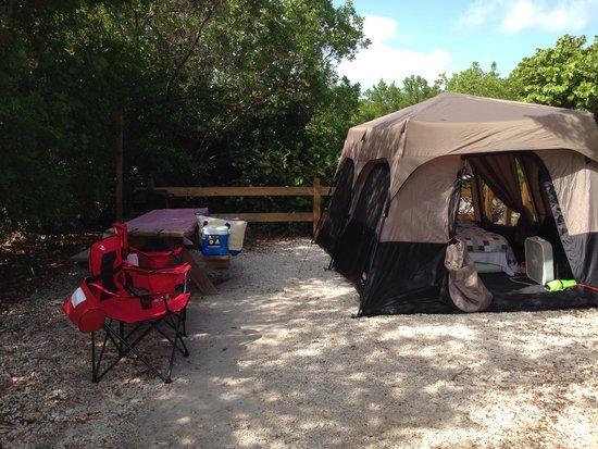 Bahia Honda State Park Campgrounds: Bahia Honda campsite