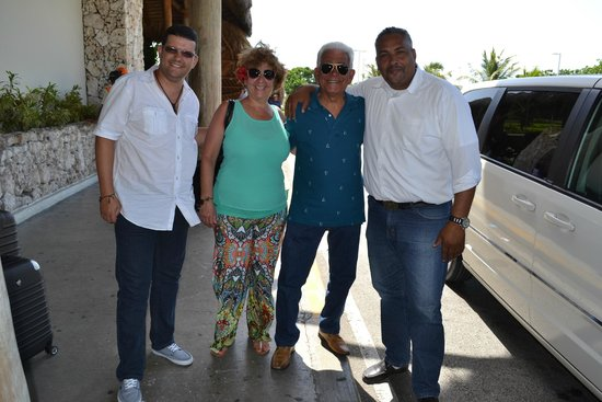 Melia Caribe Tropical: With Carlos Manuel, our taxi driver from Airport (Leonardo/Asael VIP Service)