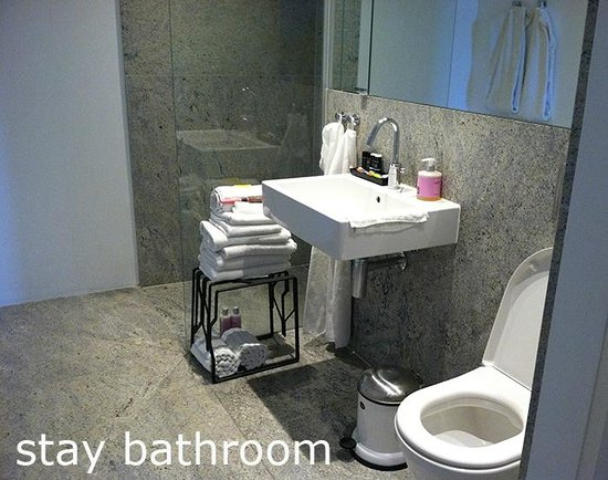 STAY Copenhagen: STAY bathroom (we moved the small table in)
