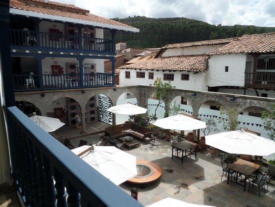 El Mercado overlooking the courtyard
