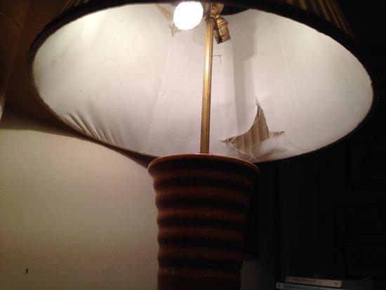 Hambledon House: Lamp Shade in Bedroom