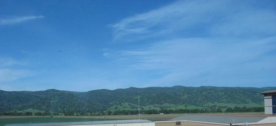 Brooks, CA: View of the hills from the west facing rooms. Taken in spring of 2014.
