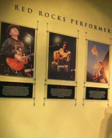 Red Rocks Park and Amphitheatre: Performer Wall near gift shop