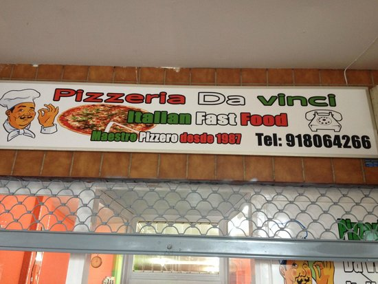 Pizzeria Da Vinci: Cartel Entrada