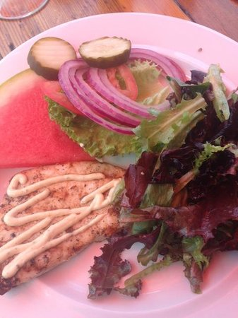 Maguire's Bay Front Restaurant : my swordfish burger without the bread