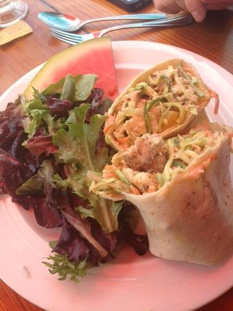 Maguire's Bay Front Restaurant: my hubby's fish taco