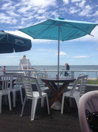 Maguire's Bay Front Restaurant: the view from our outside table at the restaurant