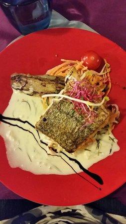L'Aromate : Filet de poisson et sa julienne de légumes