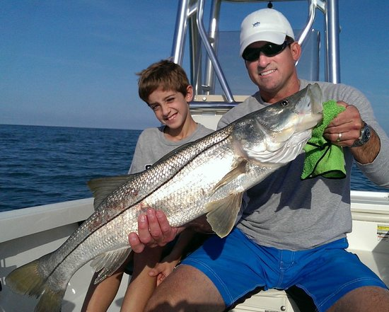 Florida Inshore Xtream Charters: Luke's first snook - 35 inches