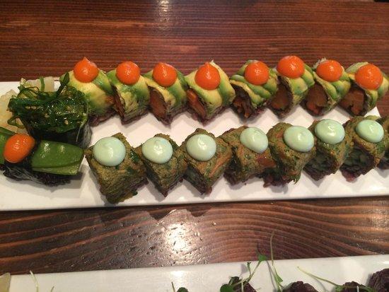Beyond Sushi: green machine & pickle me rolls