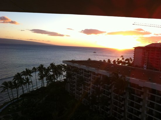 Hyatt Regency Maui Resort and Spa: sunset view