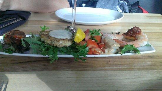 III Forks: Seafood medley.