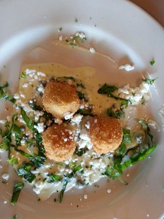 Up the Stairs: Crab crocquette