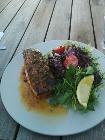 Two Beans and a Farm: salmon with french lentils