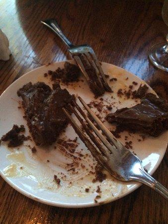 The Corner Room Kitchen & Bar: Chocolate tart with salted cream