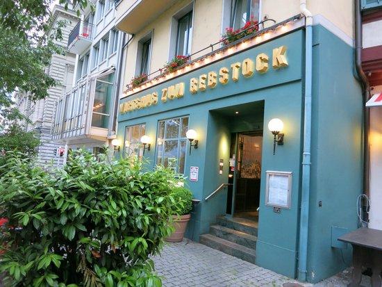 Rebstock Restaurant: The main entrance.