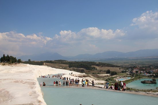 Pamukkale Thermal Pools : Late afternoon June '14, over crowded