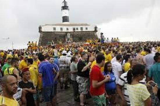 Farol da Barra Beach : Fifa Fan Fest Farol da Barra,, Salvador/BA, 28/06/2014